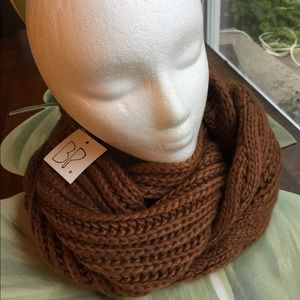 BP BROWN SCARF FROM NORD CAMEL INFINITY SCARF